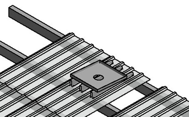 Roof Curb Pitched Rail Equipment Platform